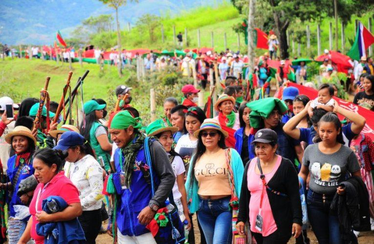 Cabildos Indígenas del Norte del Cauca marchan en apoyo a la conmemoración de los 50 años del CRIC