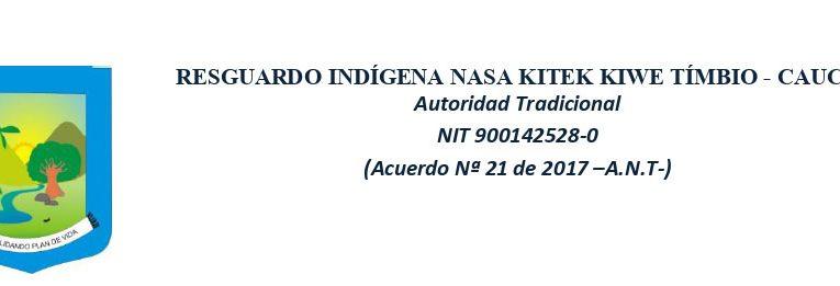 ATENTADO CONTRA LIDER INDÍGENA EN EL NORTE DEL CAUCA-COLOMBIA