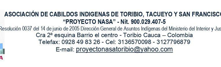 Comunicado a la opinión pública  del plan de vida Proyecto Nasa Norte del Cauca- Colombia